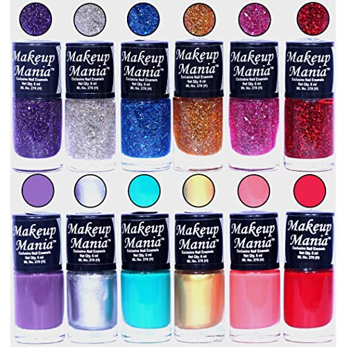 Makeup Mania Nail Polish Set, Multi-Color (Combo Of 12)
