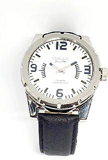 ساعة اوماكس للرجال - رياضية، متعددة الألوان، مينا ابيض - سوار من الجلد - مقاومة للماء - Beeb1223
