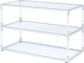 ACME Furniture 91245 Raegan Chrome And Acrylic Console Table, One Size