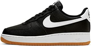 Nike Men's AIR Force 1 Low Casual Shoes (8, Black/White/Wolf Grey/Gum Med Brown)