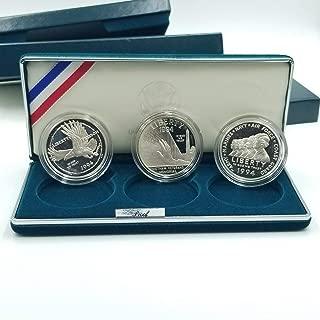 1994 P U.S. Veterans 3-Coin Set Proof