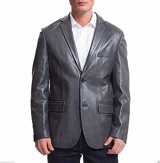 brandMe Mens Leather Blazer Genuine Soft Lambskin Leather Coat Jacket BB17