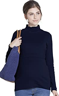 Sweet Mommy Maternity and Nursing Pregnancy CottonTurtleneck Top Pullover