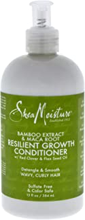 Shea Moisture Bamboo Extract & Maca Root Resilient Growth Conditioner for Unisex, 13 Ounce