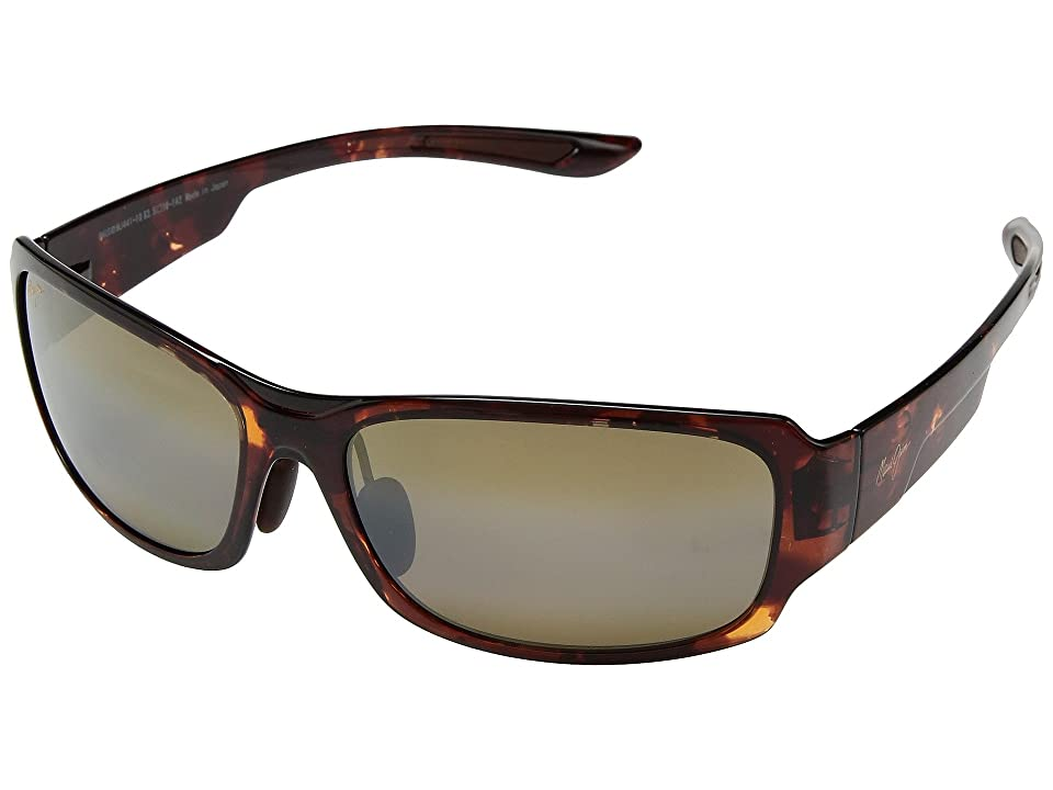 Maui Jim Monkeypod (Tortoise/HCL Bronze) Athletic Performance Sport Sunglasses