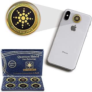 My-JAXO Premium Family 6 Pack Anti Radiation Stickers for Phone - Emf Protection Cell Phone - Radiation Protection for Cell Phone - Emf Blocker - Absorbs EMF Radiation - Remove EMF Waves - EMF Shield