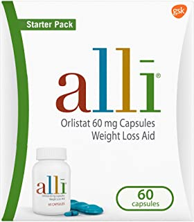 alli Diet Weight Loss Supplement Pills, Orlistat 60mg Capsules Starter Pack, Non prescription weight loss a...