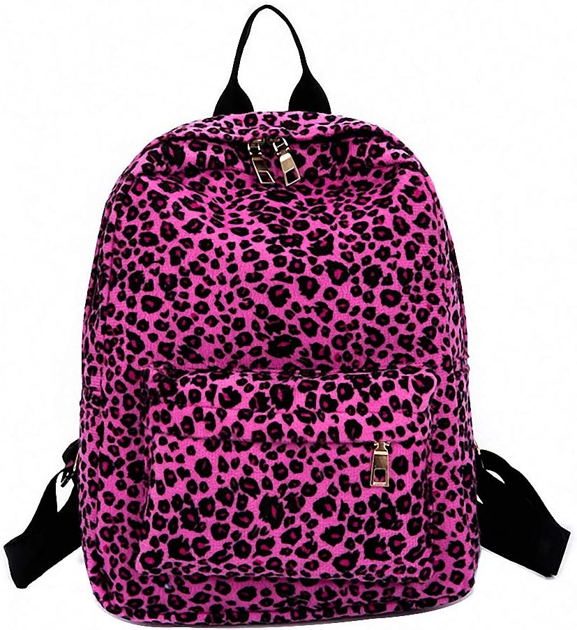 Bag Women Plush Casual Max 61% OFF Student fashion Backpac safety Leopard
