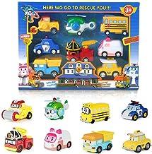 8 Character | Academy Robocar Poli Toys | Car Poli | Poli Toys | Poli Robot | Robot Cars Toys | Max, Heli, School B, Poli,...