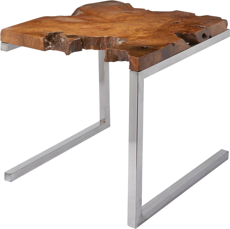 Dimond Home 162-003 Teak Table with Angular Base, 22  x 22  x 22