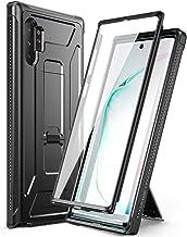 Dexnor Funda para Samsung Galaxy Note 10 Plus/ 10+ 5G Cubierta Carcasa (versión 2019) Protección de Cuerpo Completo 360 de Grado Militar con Soporte, sin Protector de Pantalla Incorporado - Negro