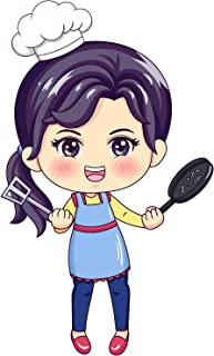Bhai Please Female Chef Wooden Fridge Magnet - Kitchen, Cooking and Bar Gifts and Decorations