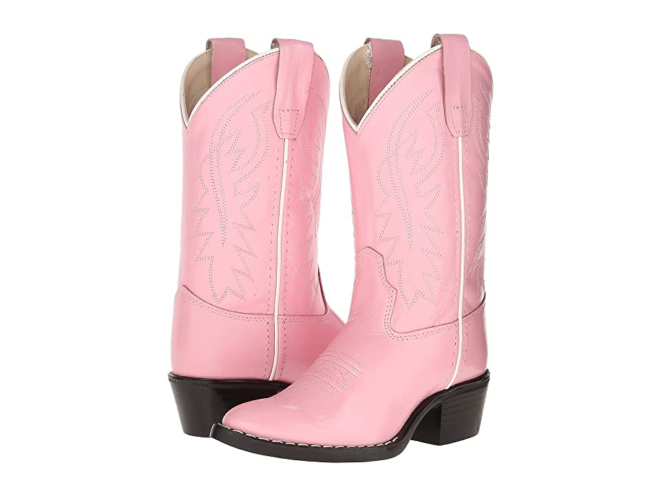 Old West Kids Boots J Toe Western Boot (Toddler/Little Kid) (Pink) Cowboy Boots