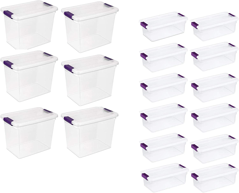 Sterilite 27 Quart Clear Storage Tote Albuquerque Mall free Pack + Container Qua 6