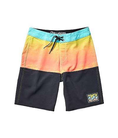 Billabong Kids Fifty50 Fade Pro Boardshorts (Big Kids) (Neo Orange) Boy