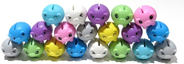 Edison Novelty Mini Rubber Pigs Assorted Colors (20)