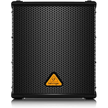 "BEHRINGER B1200D-PRO High-Performance Active 500-Watt 12"" Pa Subwoofer with Built- in Stereo Crossover, Black"