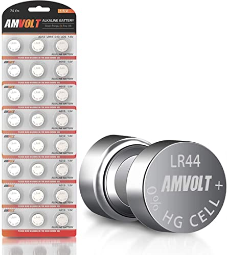 24 Pack LR44 AG13 SR44 357 303 LR44G Battery - [Ultra Power] Premium Alkaline 1.5 Volt Non Rechargeable Round Button ...