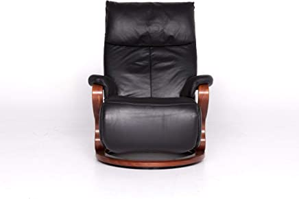 Himolla Designer Leather Armchair Black Recliner Function Chair