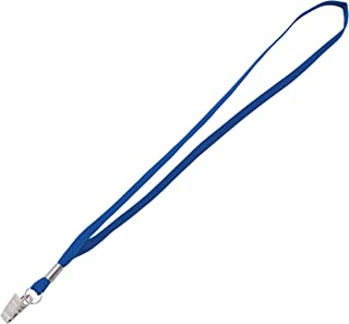 Advantus Wearable Metal Flat Clip Lanyard, 100/BX, Blue (97127)