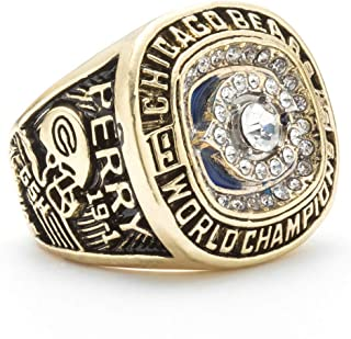 Twcuy 1985 Chicago Bears Mens Football Championship Ring Super Bowl XX Replica Championship Rings for Fans Gift
