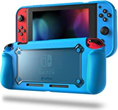 Fintie Grip Case for Nintendo Switch - Premium Slim Hybrid Protective Cover With Anti-Scratch Shock Absorption Ergonomic Grip Design, Retail Package (Blue)