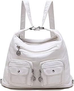 Flowers Pattern Lotus Lily Water Lily Fashion Shoulder Bag Rucksack PU Leather Women Girls Ladies Backpack Travel Bag