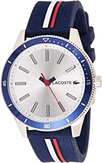 Lacoste Key West Men's Silver Dial Silicone Band Watch - 2011006