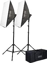 Fovitec - 2-Light 4200W Fluorescent Lighting Kit for Photo & Video with 24