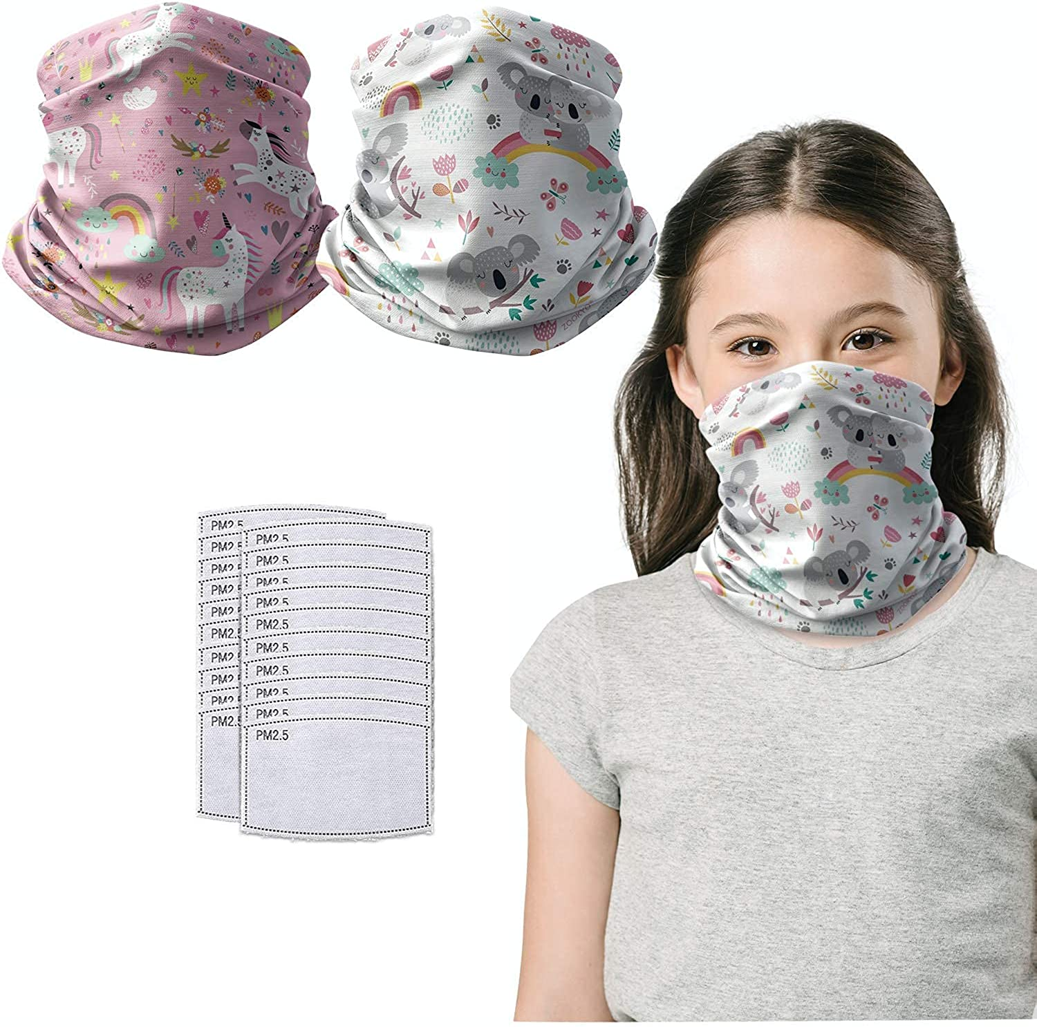 Kids Cotton Neck Gaiters with Filter - Max 44% OFF Masks f Scarf Pocket High quality new Face
