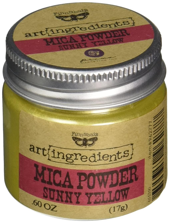 Prima Marketing Finnabair Art Ingredients Mica Powder, 0.6 oz, Sunshine Yellow