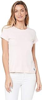 Calvin Klein Jeans Women's Core Slim T Shirt, Strawberry Cream, S