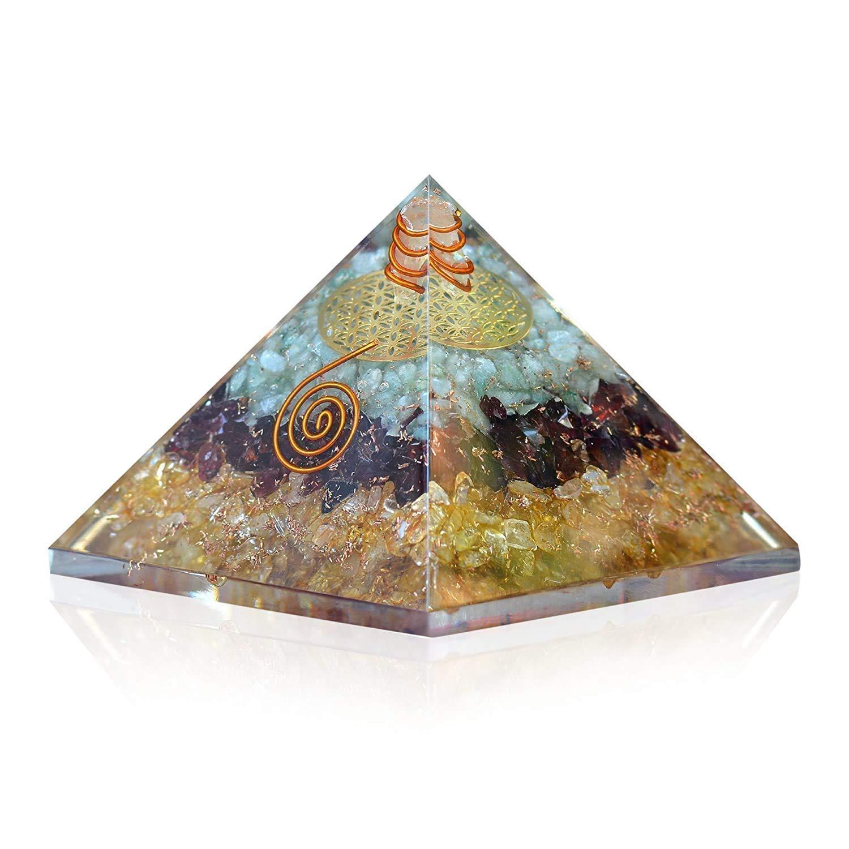 Handmade Orgone Crystal Triple Money Max 88% OFF E-Energy Ge Pyramid Ranking TOP9 Healing