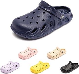Zuecos Niños Niña Sandalias Clogs Piscina Respirable Malla Chanclas Zapatillas de Playa Jardín Verano Zapatos Mulas Mauve ...