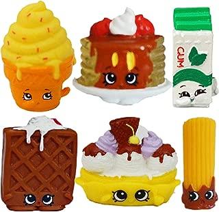SHOPKINS Season 2 Sweet Treats Set of 6 - Pamela Pancake, Yummy Gum, Banana Splitty, Waffle Sue, Ice Cream Dream, Cheery Churro, Genuine Moose