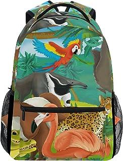 Mochila para la escuela, senderismo, viajes, diseño de animales de la selva