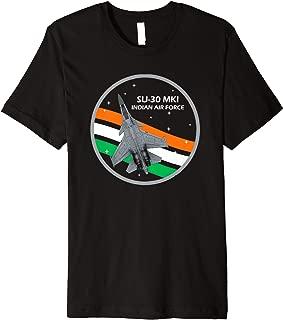 India SU-30 MKI Fighter Jet - Indian Air Force Premium T-Shirt