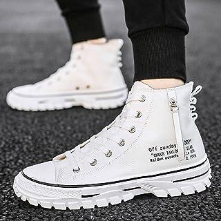 N\C Automne Chaussures pour Hommes à la Mode Hommes Toile Martin Bottes Baskets Montantes pour Hommes Chaussures décontrac...