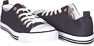 Canvas Sneakers for Women – Low Cut Casual Shoes - Casual Lace Up Flat Shoes