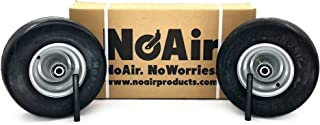 NoAir (2) Dixie Chopper Flat Free Wheel Assemblies 13x6.50-6 MZ Replaces 400438