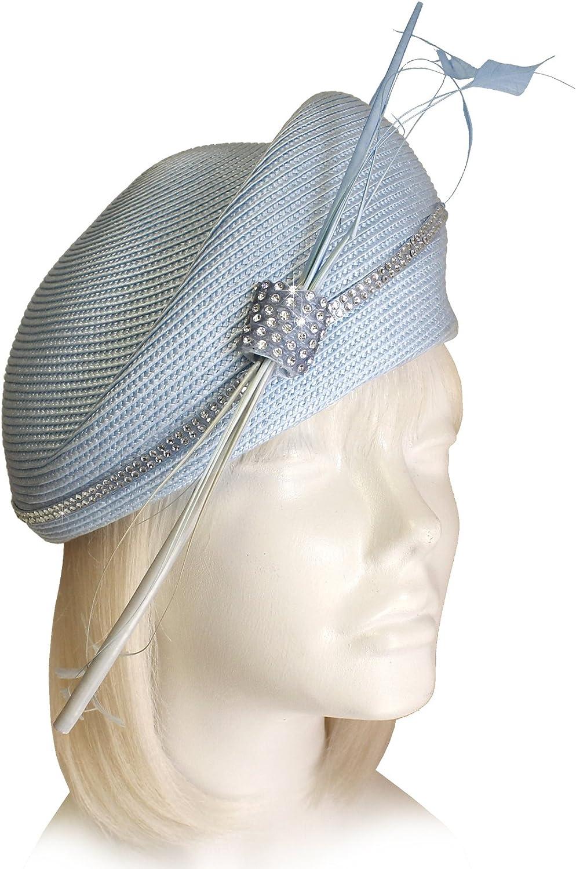 Mr. Song Millinery StrawTagline Structured Beret Cloche Hat ST84