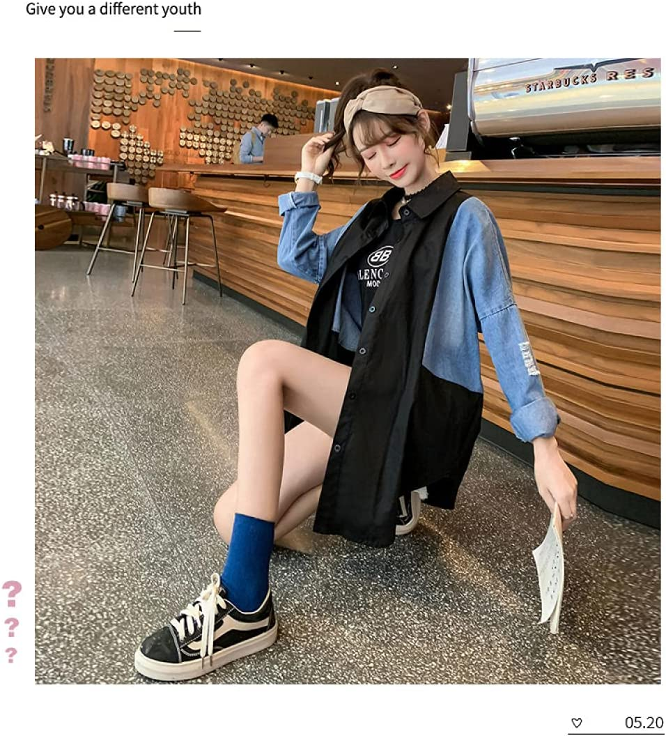 Mid-Length Denim Jacket Female Spring and Autumn Loose Style Cardigan Outer Clothes Korean Style Student Denim Jacket