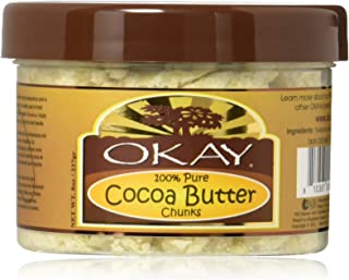 OKAY |Cocoa Butter Chunks | For All Hair Textures & Skin Types | Protect - Moisturize - Hydrate | Conditioning - Nourishme...