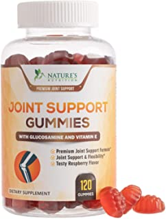 Joint Support Gummies Extra Strength Glucosamine & Vitamin E - Natural Joint & Flexibility Support - Best Cartilage & Immune Health Supplement for Men and Women - 120 Gummies