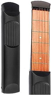 City-Center 【 どこでも練習 】 ポケットギター  アコースティックギターの練習ツール 6弦 6フレット 初心者対応 コンパクトギター ガジェット 初心者に最適 練習用ツール 耐久性 持ち運び可能 六角レンチ付き 収納ケース付き 誕生日 子供プレゼント プレゼント 贈り物