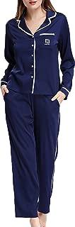 Pajamas Women's Long Sleeve Sleepwear Soft Pj Set XS-XL