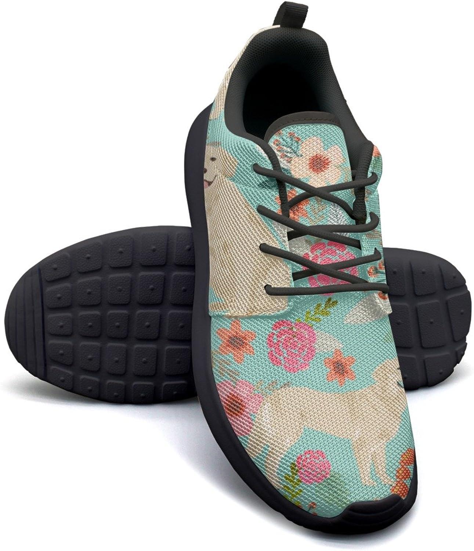 ERSER golden Retriever Dog Flower Neutral Running shoes Women