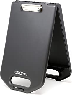 Think2Master Black Plastic Storage Clipboard with Handle and Real Hinges,   30% Heavier & 30% Sturdier  Heavy Duty. Won't Flex or Bend Like Other Brands. Storage Area Holds 275 Letter Sized Paper.