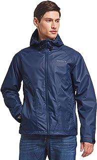 BALEAF Men's Waterproof Rain Jacket Lightweight Windbreaker Hooded Outdoor Water Resistant Shell