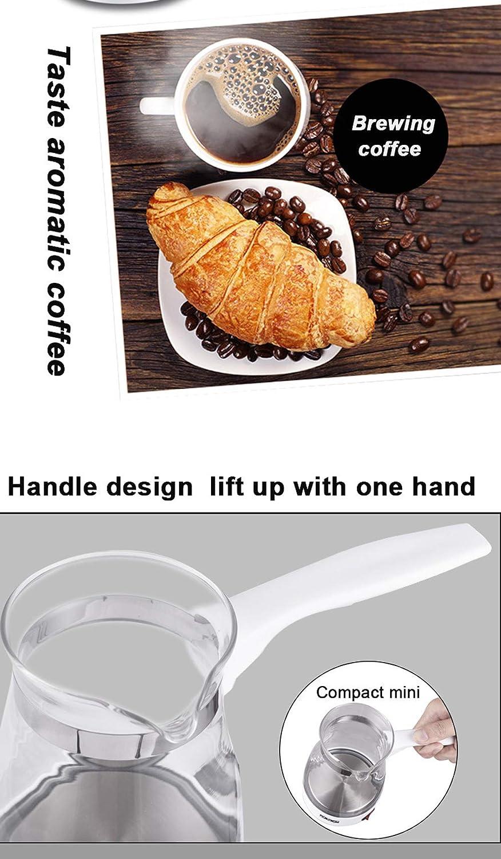 HDJX Machine à café Filtre, 700ML, avec Fonction minuterie, système Anti-Goutte, en Acier Inoxydable, 600W White Black